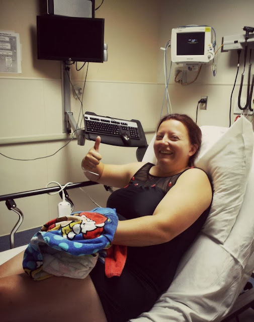 jenn at the st louis park hospital after trying the six foot jump out