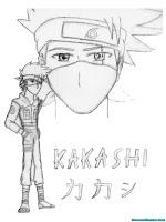 Mewarnai Gambar Kakashi Ninja Desa Konoha