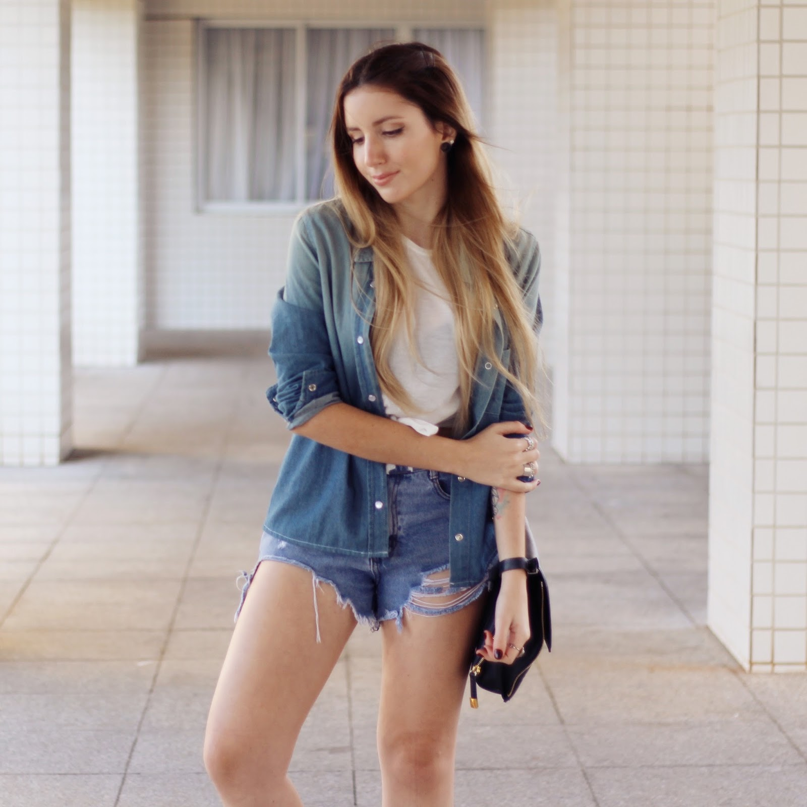 Look do dia camisa jeans