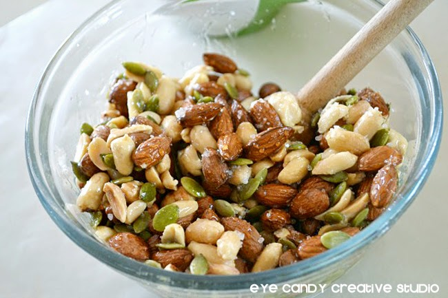 mixing ingredients, almonds, seeds, gift idea for father's day