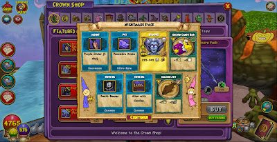 Wizard101 Nightmare Pack New Gear 2013