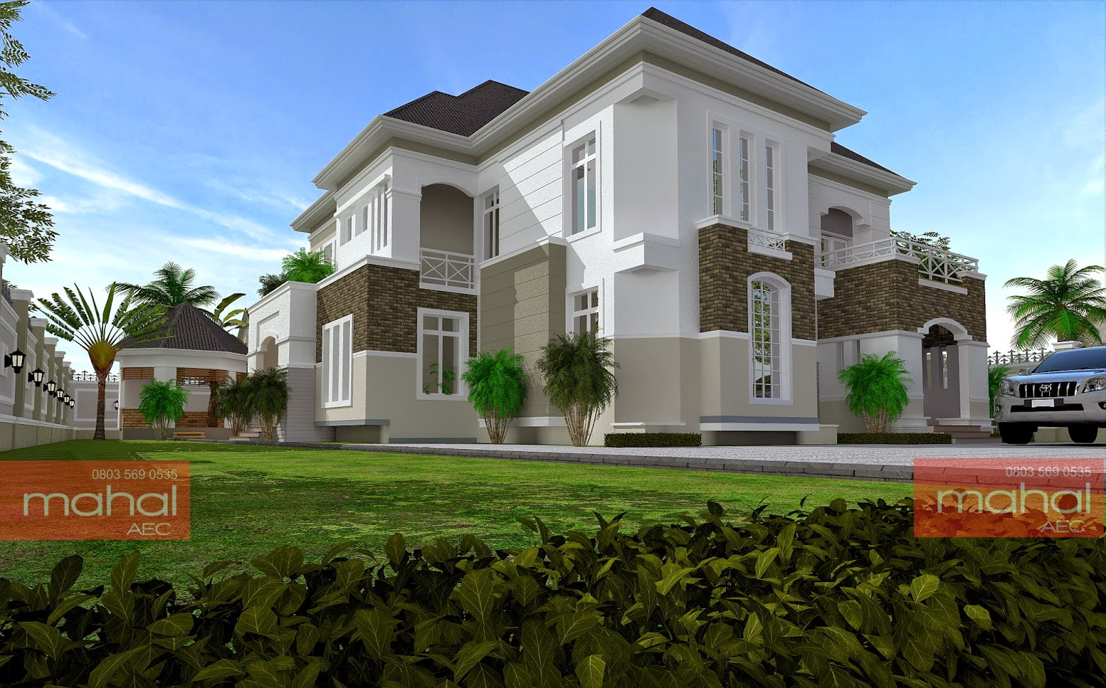 eo1AA - Download 4 Bedroom Residential Modern Duplex House Designs In Nigeria PNG