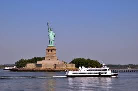 Ferry and Statue of Liberty New York