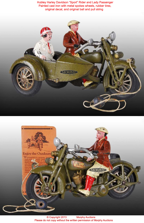 Harley Davidson Toys : Old antique toys the hubley harley davidson motorcycles