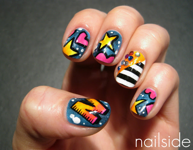 Nailside nicki minaj inspired nails prinsesfo Choice Image