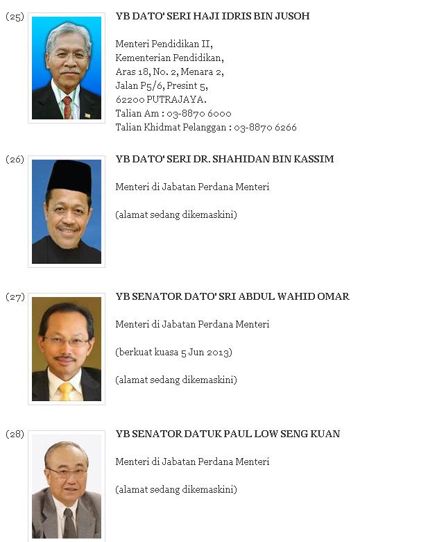 Menteri 2013