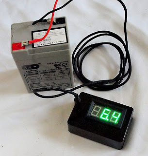 SLA Battery, Power Lead and Voltmeter