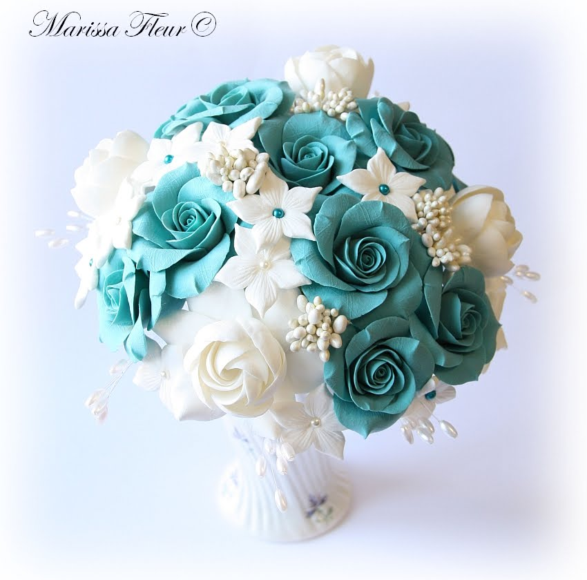 A Touch Of Beauty...: Turquoise Rose, White Gardenia And Stephanotis ...