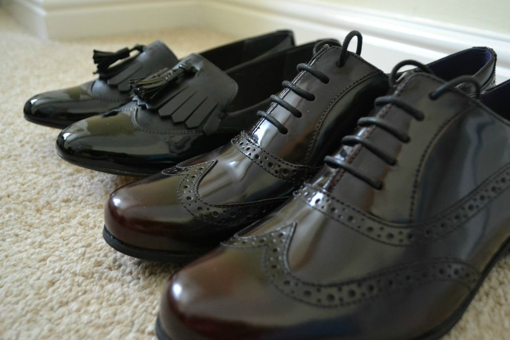 brogues loafers patent clarks
