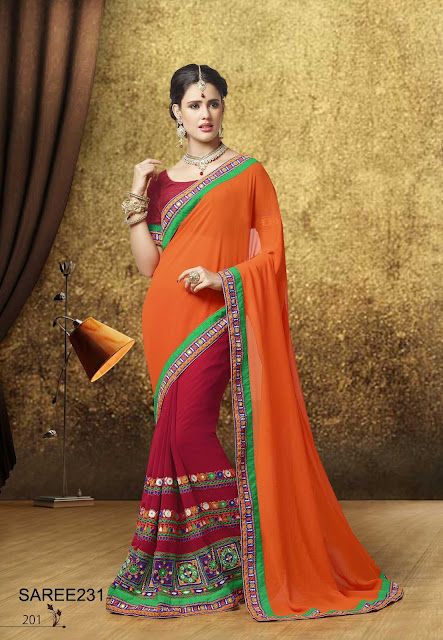 Same Design Different Colour Designer Saree