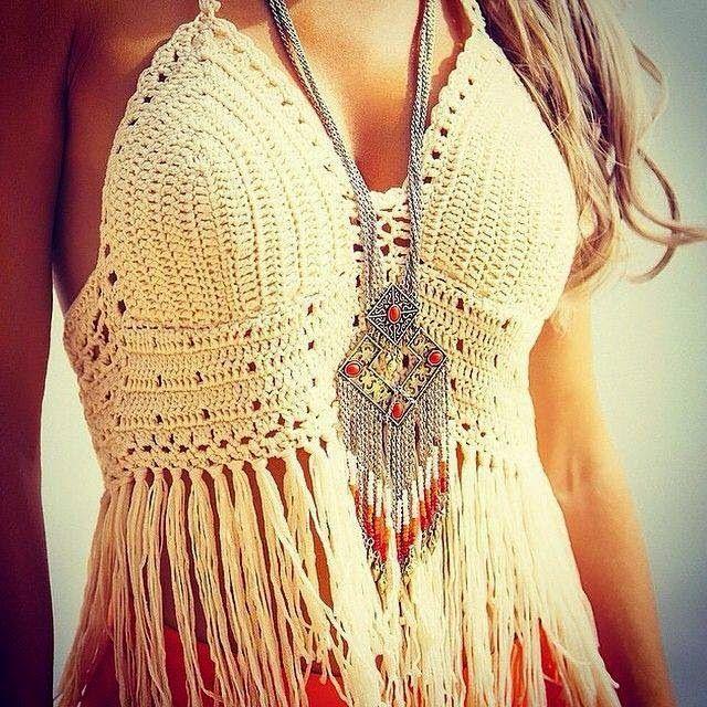 Crochet Bohemian Boho Top