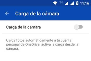 Respaldar automaticamente fotos del movil en Onedrive App