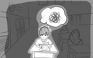 Cartoon on examination hall