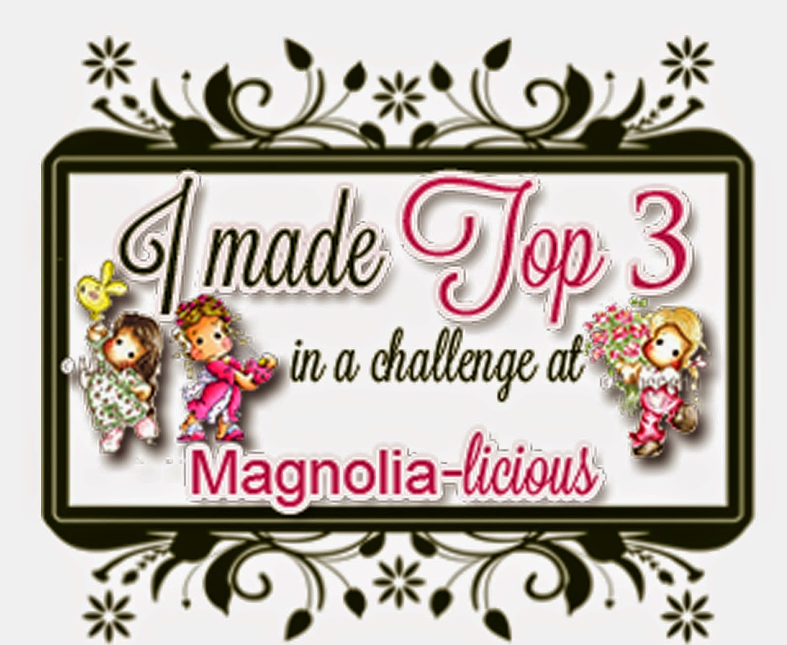 "TOP 3 at Magnolia-licious - Ch March ""Bingo Board"""
