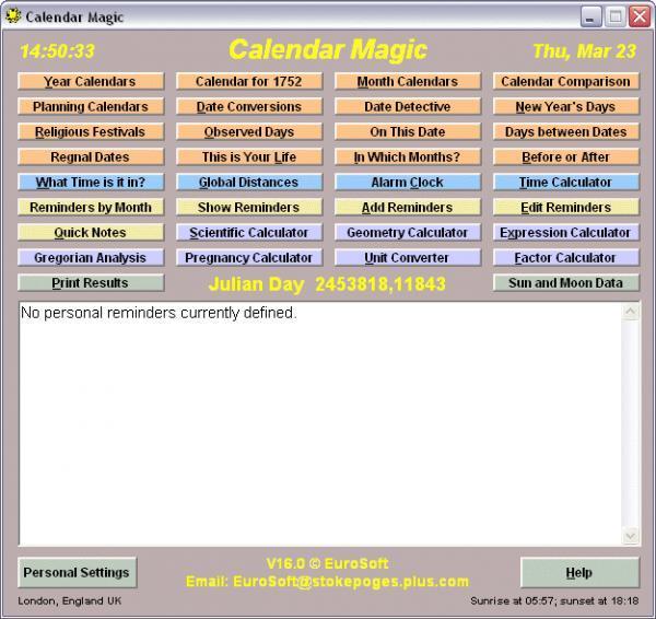Free Downloads Calendar Magic