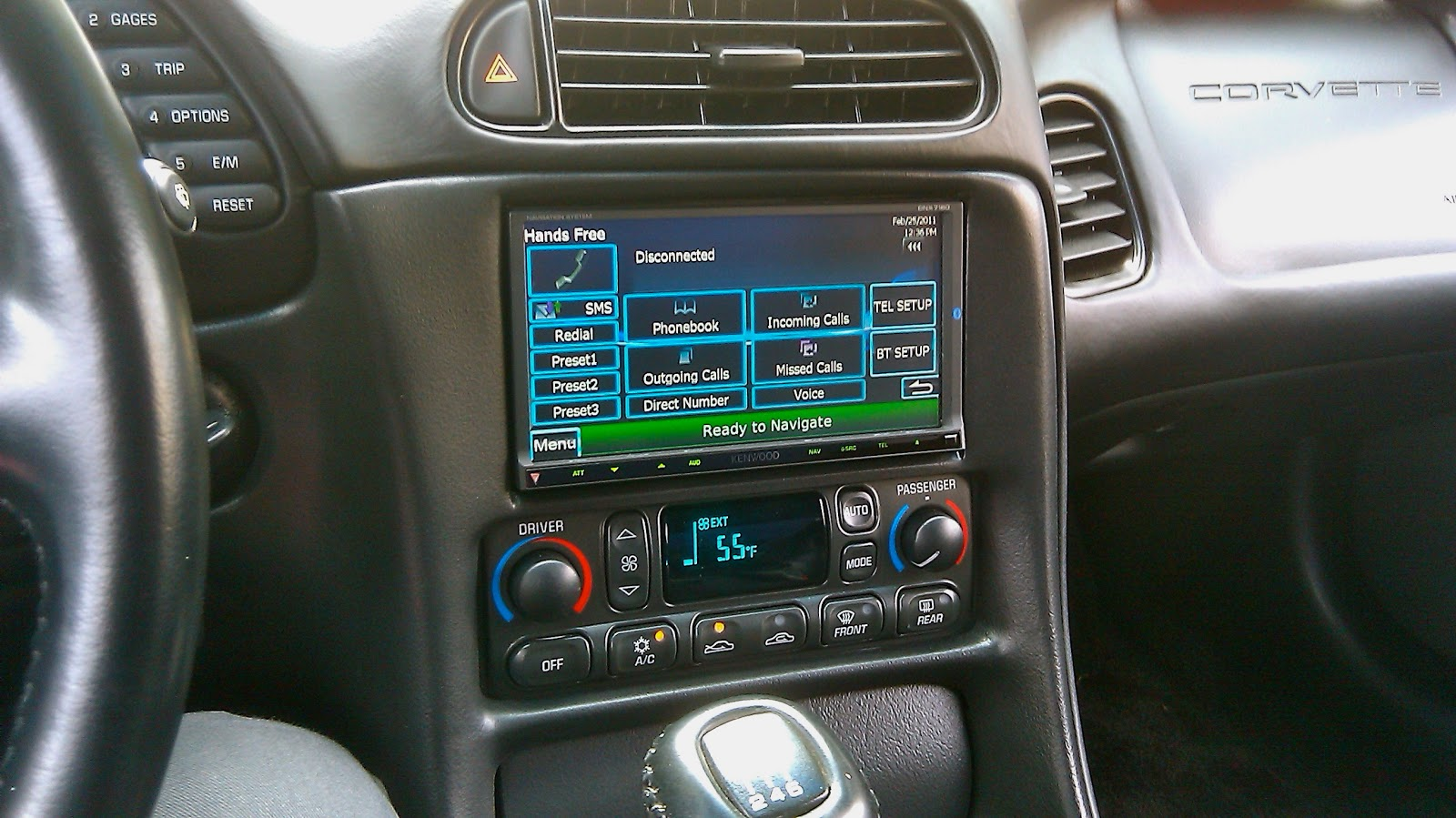 1997 2004 C5 Corvette Double Din In Dash Car Stereo Install Yes It Wiring Diagram 89 Nissan Frontier E Perfect Kenwood Installed By One Of The Best Vasquez
