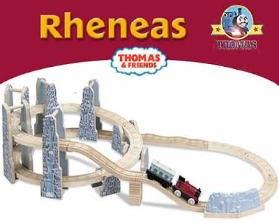 Learning Curve Thomas & Friends Wooden Railway train Rheneas & the Roller Coaster Set track