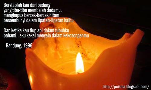 Puisi Renungan : Kasidah Lilin _ Moh. Wan Anwar