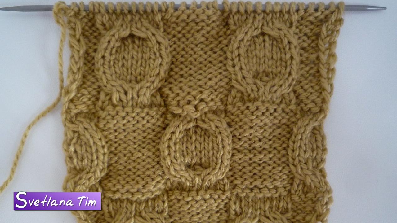 Вязание узоры косы и жгуты видео