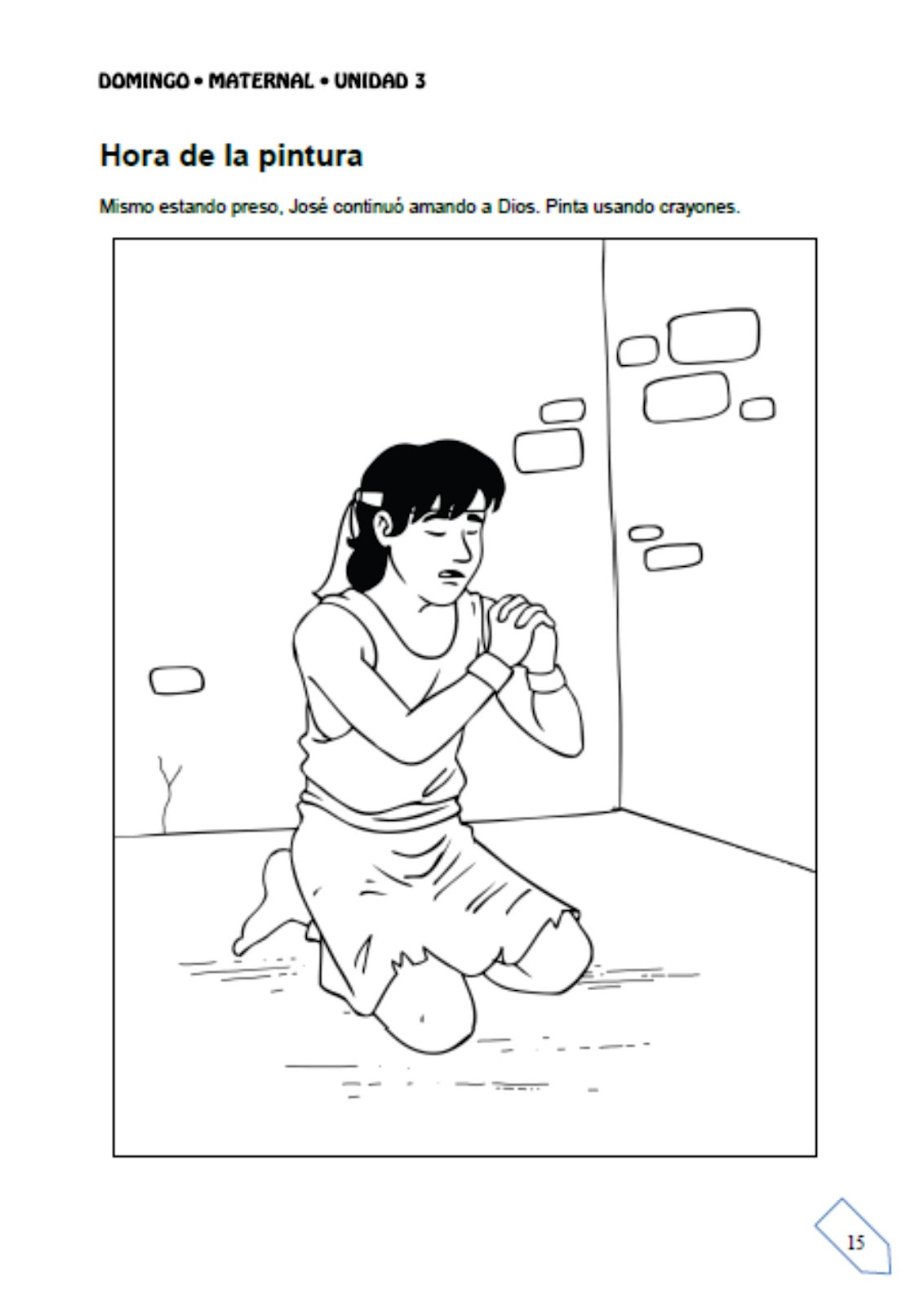Unidad 3: José en la prisión ~ Escuelita Biblica Infantil