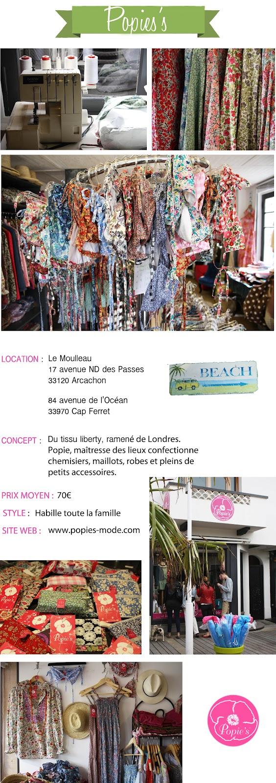 boutique Popie's au Moulleau