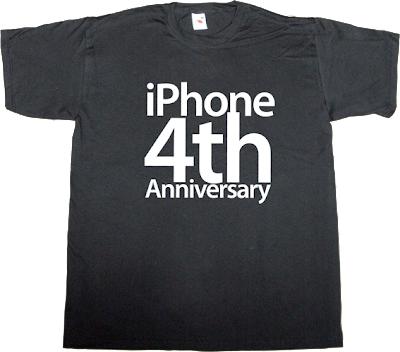 apple iphone iphone 4 anniversary t-shirt ephemeral-t-shirts
