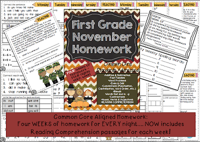 http://www.teacherspayteachers.com/Product/First-Grade-Common-Core-Homework-November-950602