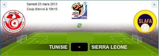 ... En direct Tunisie vs Sierra Leone Sur Al jazeera sport Le 23-03-2013