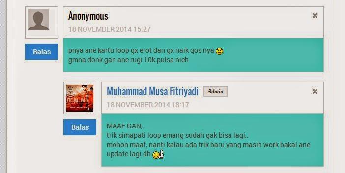 Cara Naikin Qos Simcard Loop Update November