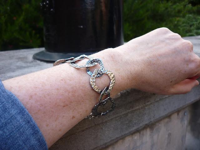Denim Shirt & Hammered Silver Bracelet | PetiteSilverVixen