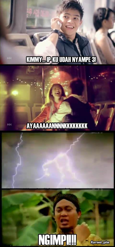 Komik parodi lucu Gokil kimmy kevin bintang iklan kartu as