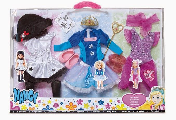 JUGUETES - NANCY - Tres Deseos | 3 Vestidos  Producto Oficial | Famosa 700010170 | A partir de 4 años