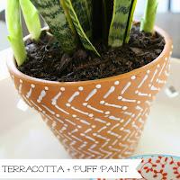 http://www.wonderfullymadebyleslie.com/2015/04/terracotta-puff-paint.html