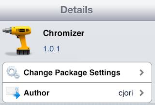 chromizer Cydia Tweak