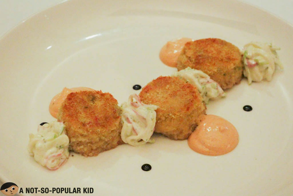 The tasty Cru Crab Cakes by CRU Steakhouse