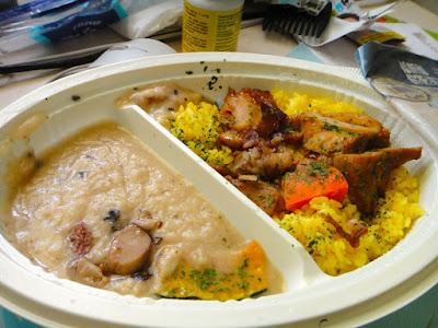 Taiwan 7-11 Briyani Chicken and Mushroom Cream Meal Box