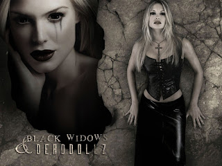 Black Widows And Dead Dollz Dark Gothic Wallpaper