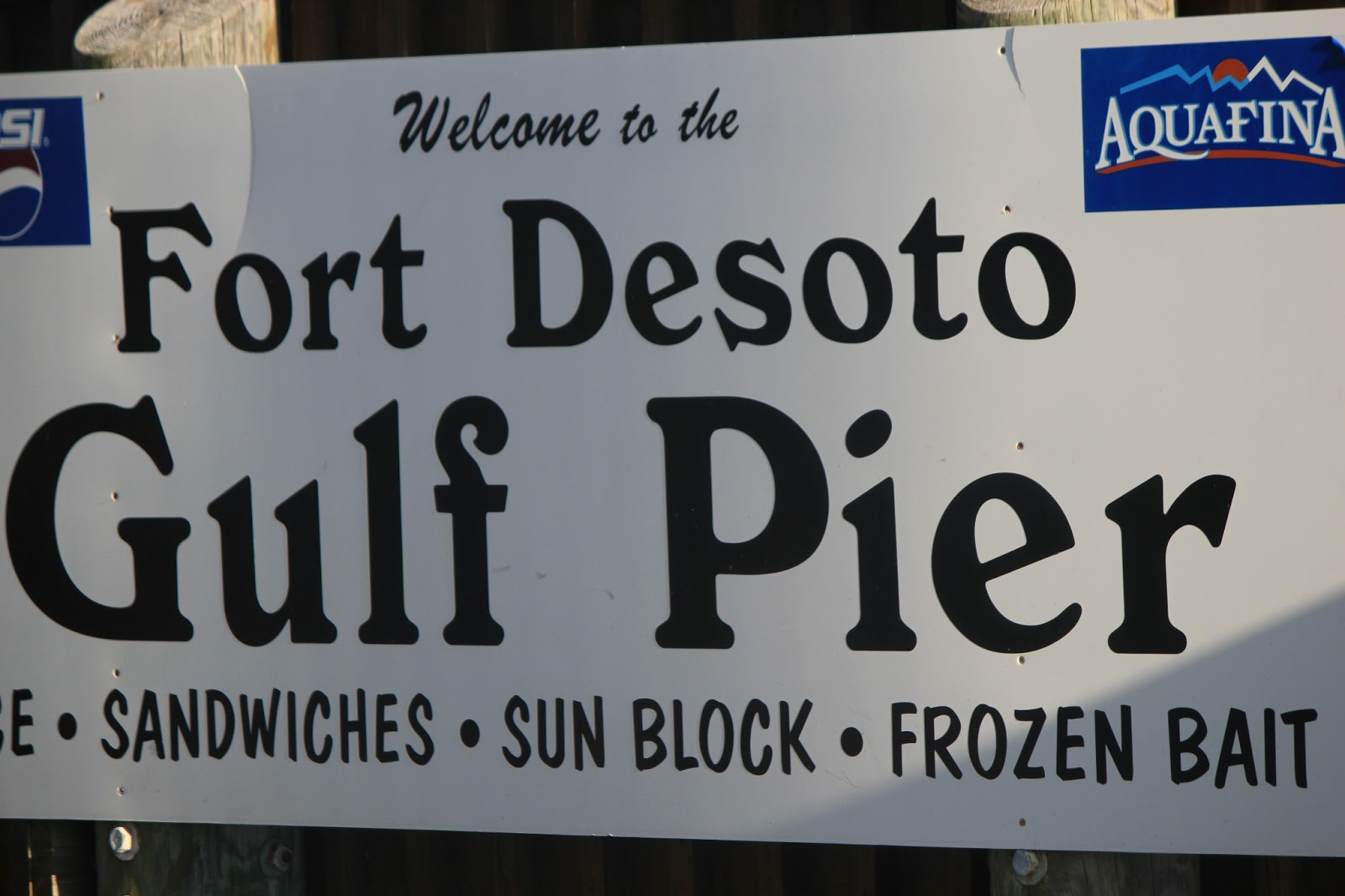 Pinellas county parks fort de soto park gulf pier welcome sign nvjuhfo Image collections
