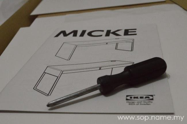 Jom pasang meja MICKE IKEA