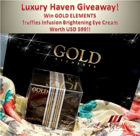 Win Gold Elements Eye Cream Worth USD 599!! Giveaway is Open to All Worldwide!