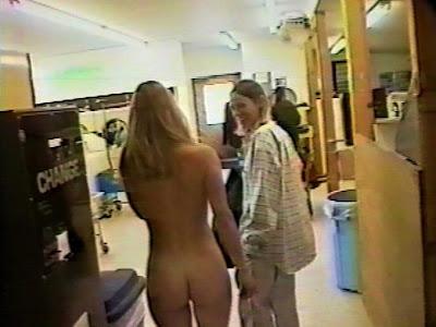 Properties naked laundry at laundromat