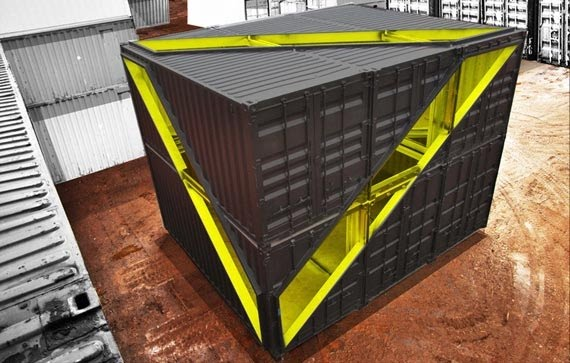 Starkwhite whitney 39 s new pop up studio made of shipping for New york based architecture firms