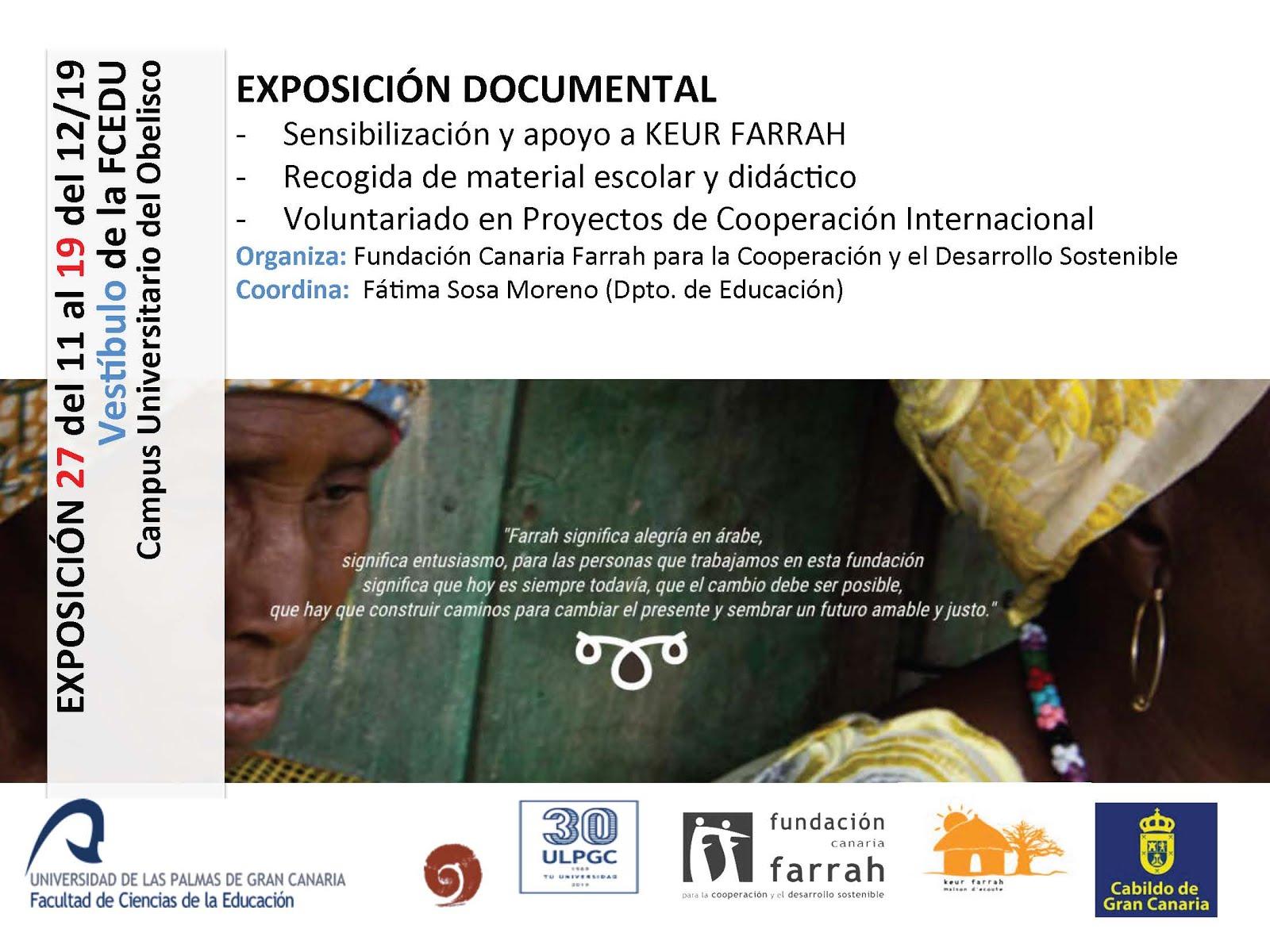 Exposición documental (27 del 11 al 19 del 12 de 2019)