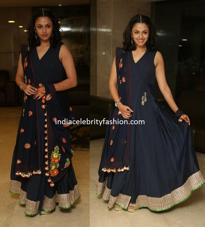 Malavika Nair in Floor length Anarkali