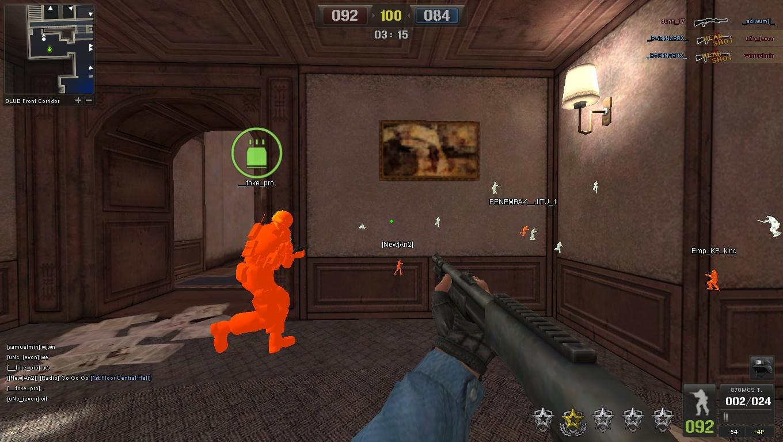 Cheat WallHack + Auto Head Shot Point Blank Indonesia 16 April 2012