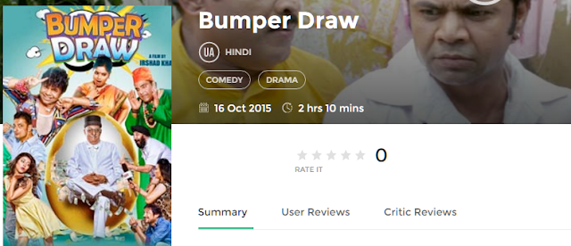Bumper Draw 2015 Full Hindi Movie 350Mb HD Torrent