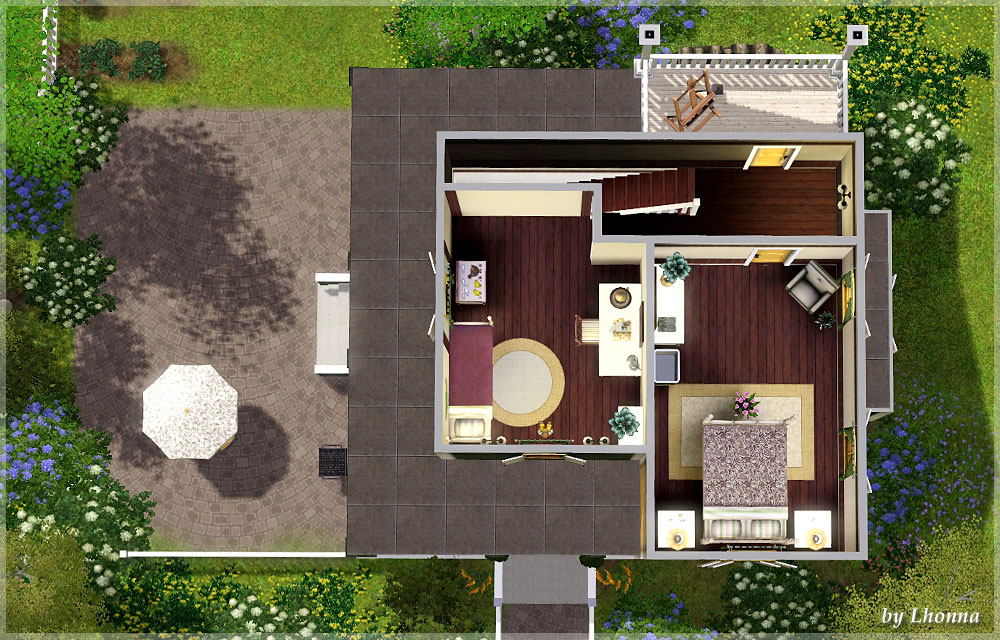 my sims 3 blog sunflower small house for a family by lhonna