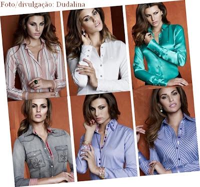 Tecidos, cores e estampas variadas, com detalhes femininos.
