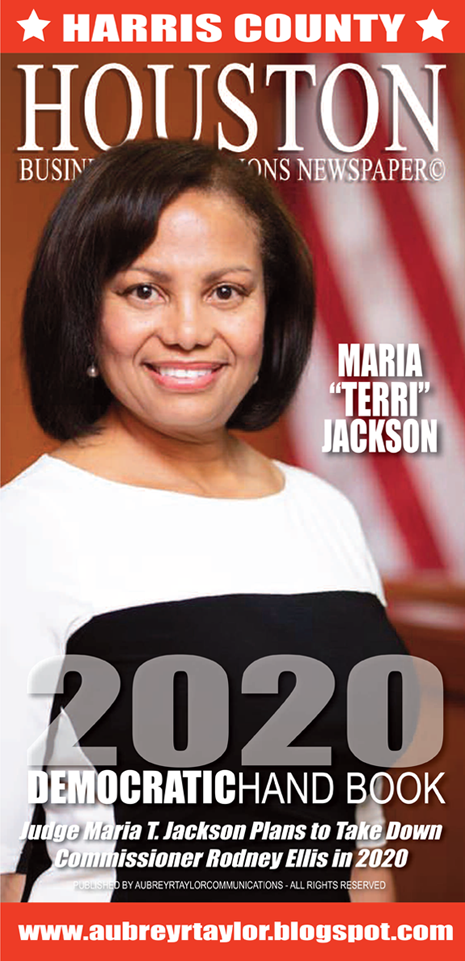 Judge Maria T. Jackson is running for Harris County Commissioner for Precinct 1 in 2020
