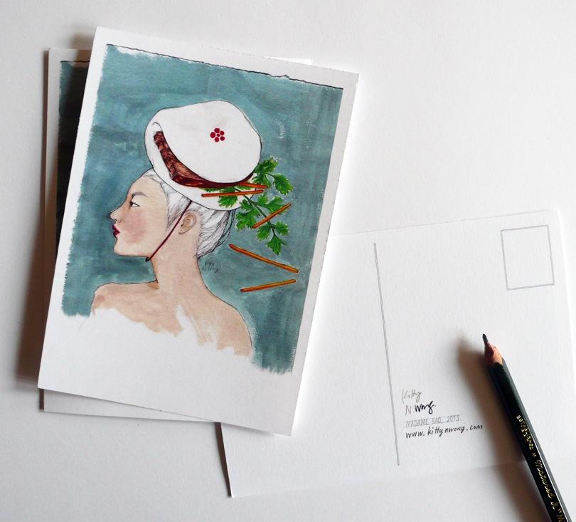 Kitty N. Wong / Etsy Postcards of Madame Bao